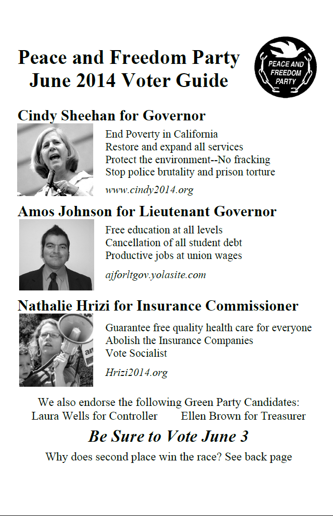 Spring 2014 voter guide page 1