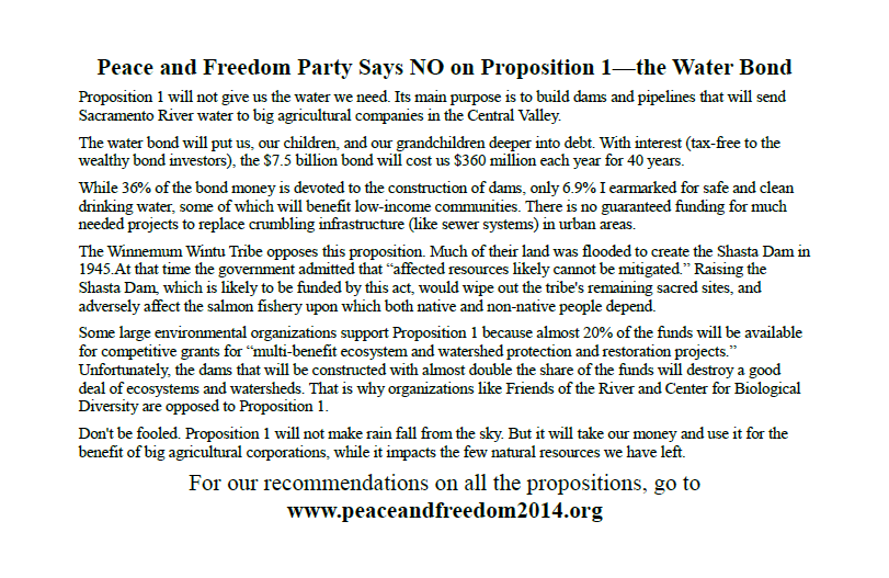 Flyer on Proposition 1